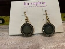lia sophia golden crystal earring