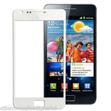 VETRO ANTERIORE FRONTALE GLASS TOUCH SCREEN DISPLAY SCHERMO SAMSUNG S 2 BIANCO