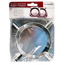 2 PCs Stainless Steel Ashtray Light Weight Cigarette Holder for Home Restaurant