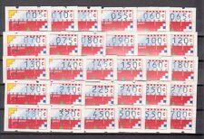 xxx  Automaatzegels AU 1 t/m AU 30 kompleet, Klussendorp. C.w. € 105,--
