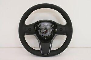 Tesla Model 3 (2017-2020) OEM Black Leather Steering Wheel # 1095222-00-L