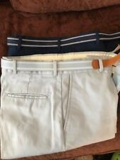 "2  KnightsBridge casual flat front cotton pants 32""X 32"" Navy blue and Gray"