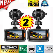 "2PCS HD 1080P 2.4"" Car DVR Camera Video Recorder Night Vision Dash Cam US STOCK"