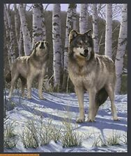 """35"""" Fabric Panel - Windham One of a Kind Digitally Printed Wolf Nature Scene"""