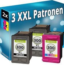 3x REFILL TINTE PATRONEN für HP 300 XL D1660 D2560 D2660 D5500 D5560 F2420 F2480