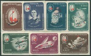 Paraguay 1964 100 Jahre Rotes Kreuz 1288/94 Muster postfrisch