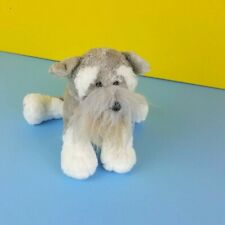Ganz Webkinz Plush Gray Schnauzer Puppy Stuffed Dog No Code