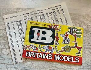 Original 1965 Britains Models Catalog, w/Reeves International Price List