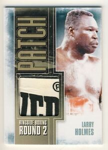 Larry Holmes 2011 Ringside Boxing Round 2 Patch Card Gold 1/1 #P-12