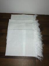 Linge ancien serviettes d'invités coton et lin