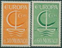 Monaco 1966 SG856-857 Europa ship set MNH