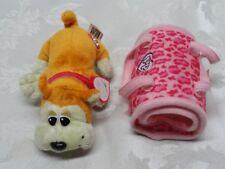 "Pound Puppies HASBRO Puppy Dog EUC tags 6"" Animal Print Carrying Case Plush"