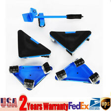 New listing 5Pcs Furniture Lifter Move Moving Lifting System Triple Wheels Mover Sliders Kit