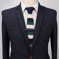 Men's Classic Solid Knit Knitted Tie Necktie Tie Narrow Slim Skinny Woven New