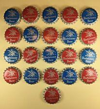 LOT OF 21 BUDWEISER BEER RED & BLUE EAGLE BOTTLE CAPS UNUSED