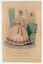 Mode-fashion print - Stahlstich 1836 Petit Courrier des Dames, Journal des Modes