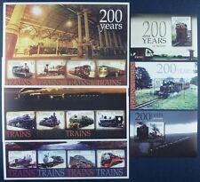 St. Vincent 2004 Eisenbahn Trains Locomotives 6032-43 + Block 632-34 MNH