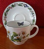 Royal Worcester Herbs Tea Cup & Saucer Wild Thyme & Feverfew