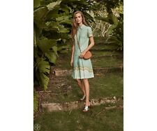 Tory Burch Dress 6 Emmy Mosaic Print Shirtdress  $295 M Blue Green