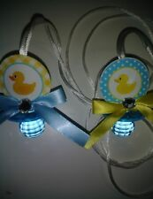 12 Rubber Ducky Baby Shower Pacifier Necklaces