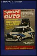Sport Auto 11/80 Opel Manta Turbo Alpina C1 Volvo 244 T + Poster