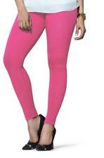 Indian Cotton Churidar Lyra Free Size Pink Women Legging Kurta Kurti Free Ship