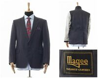 Mens MAGEE Blazer Coat Jacket Two Button Grey Size 42 52