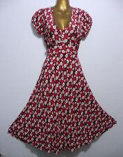 New Look V-Neck Short Sleeve Floral Dresses for Women