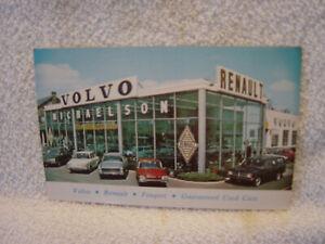 VOLVO dealership Baltimore MD c 1960 postcard promotion literature unused