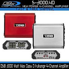 DS18 S-3000.4D 4 Channel Car Stereo Amplifier 3000 Watt Max Fullrange Audio Amp