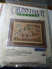 1989 Bernat Counted Cross Stitch Neighbors Sampler Kit # 25000 New