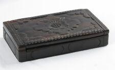 Vintage Hand Carved Asian Rosewood Vanity Trinket Box