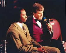 JIM LAMPLEY & LENNOX LEWIS 8X10 PHOTO BOXING PICTURE