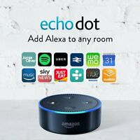 New Amazon Echo Black Dot 2nd Gen Alexa Voice Activated Personal Assistant Home