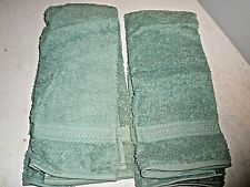 New Vintage Jc Penney Home Collection Set of 2 Green Hand Towels (H)