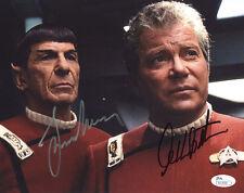 (SSG) Rare WILLIAM SHATNER & LEONARD NIMOY Signed 10X8 STAR TREK Photo - JSA COA