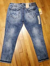 Silver Kenni Girlfriend Skinny Leg Jeans Size 36 L 27 Mid Rise Distressed NWT
