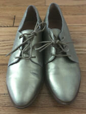 Madewell  Gold Metallic Leather Oxford Lace Up Women's Shoes Size 6.5