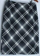 White House Black Market Black & White Tartan Plaid Pencil/Straight Skirt - 4