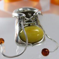 A165 Baby Schuh Figur Zahndose Patengeschenk Geburt Taufe 925 Silber Bernstein