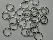 20pcs. Silver Plated Closed Jump Rings Connector Jewelry Findings 10mm