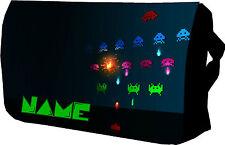 Retro De Los Jugadores Bolso Space Invaders Escuela / Universidad / Messenger / Sholder / Laptop
