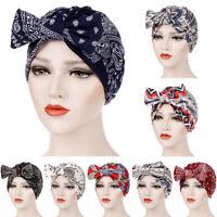 Scarf Hijab Head Wrap Stretch Cancer Chemo Cap Muslim Bowknot Women Turban Hat