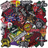 Wholesale Lot Music Punk Rock Reggae HipHop Band Sew Iron on Embroidered Patch