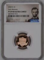 2020-S PROOF LINCOLN CENT NGC PF69 RD Early Realeases Ultra Cameo Portrait Label