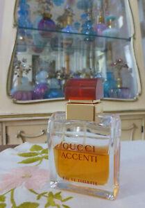 VTG 1990s Gucci ACCENTI EDT 1.7 Oz 50ml Spray Approx. 50% Full SCANNON S.A.