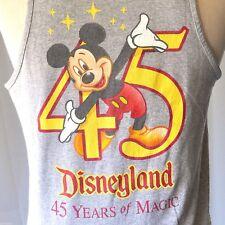 Disneyland Mickey Mouse 45 Years of Magic Vtg M Tank Top Medium Mens USA 1995
