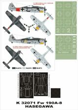 Montex Super Mask 1:32 Fw-190 A-8 for Hasegawa Kit Spraying Stencil #4 #K32071