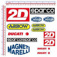 Adesivi sponsor sticker moto 2D magneti marelli ducati arrow print pvc 15 pz.