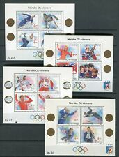 Norway FINE Lot of 4 Souvenir Sheets Olympic Winners MNH  - FREE SHIPPING
